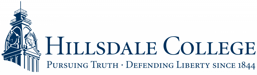 This image has an empty alt attribute; its file name is Hillsdale-Logo-WC-1024x302.png